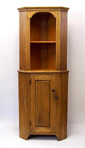 recycled lumber corner cabinet