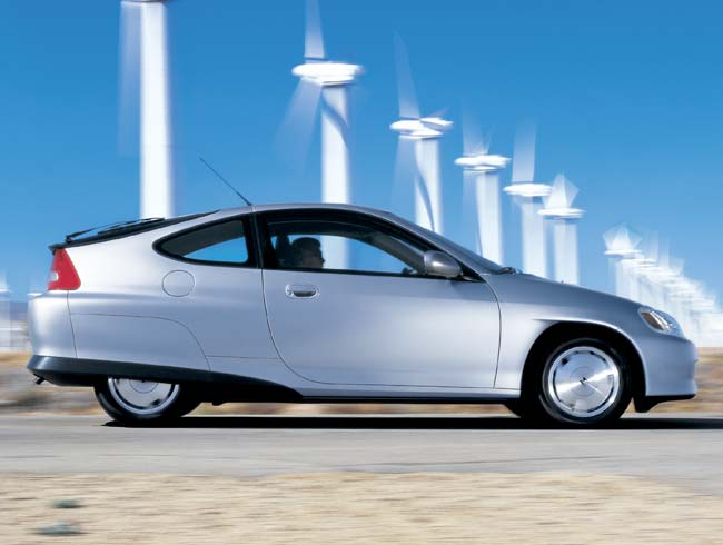 Drive a more fuel-efficient vehicle - Image courtesy of http://www.ecobusinesslinks.com/images/Scooter/honda_insight.jpg