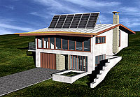 Howard Alan Architects – Passive solar house with photovoltaic solar panels