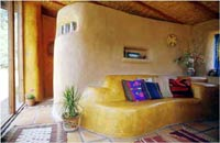 Canelo Project – Interior of Straw Bale House